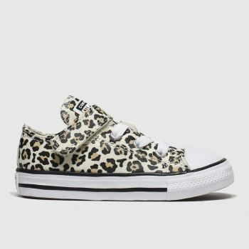 Converse Black & Brown All Star 1v Lo Leopard Girls Toddler