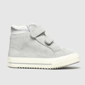 Converse Grey All Star Hi 2v Pc Boot c2namevalue::Girls Toddler