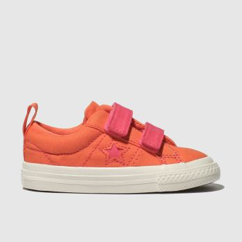 Converse Orange One Star 2V Lo Girls Toddler