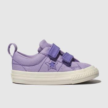 Converse Lilac One Star 2V Lo Girls Toddler