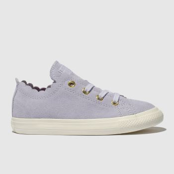Converse Lilac All Star Lo Frilly Thrills Girls Toddler