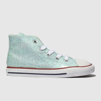 Converse Pale Blue Chuck Taylor All Star Hi Girls Toddler