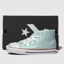 b71a70426831 Girls pale blue converse chuck taylor all star hi trainers