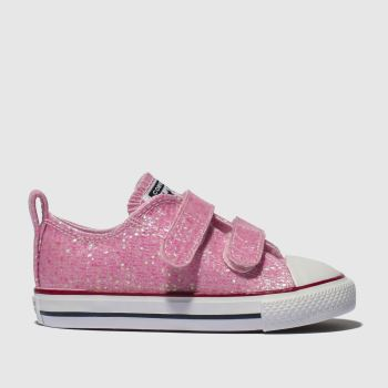 Converse Pink ALL STAR 2V LO GLITTER Girls Toddler