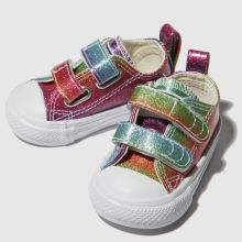 Converse all star 2v lo glitter rainbow 1