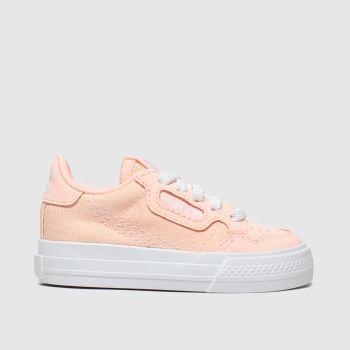 adidas peach continental vulc el trainers toddler