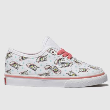 Vans White & Pink AUTHENTIC UNICORN Girls Toddler