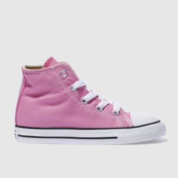 Converse Pink ALL STAR HI Girls Toddler