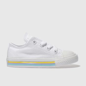 Converse White Chuck Taylor All Star Lo Girls Toddler