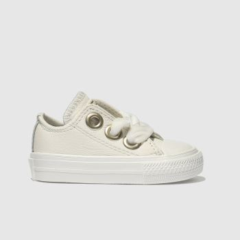 Converse White All Star Big Eyelets Lo Girls Toddler