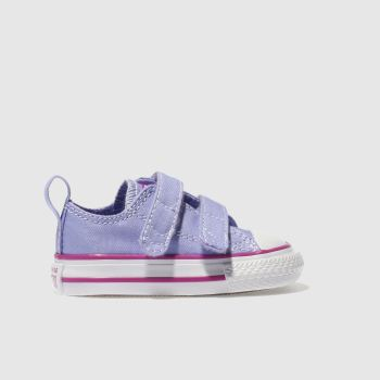 Converse Purple CHUCK TAYLOR ALL STAT 2V Girls Toddler