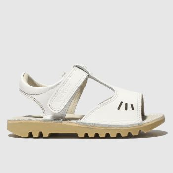 Kickers White Kick T-Vel Sandal Girls Toddler