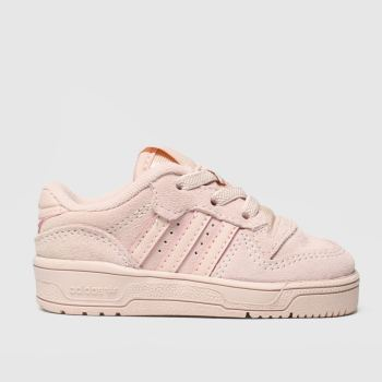 adidas pale pink rivalry low trainers toddler