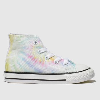 Converse Blue & Yellow All Star Hi Tie Dye Girls Toddler