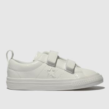 Converse White One Star 2V Girls Toddler