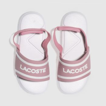 LACOSTE PINK L.30 GIRLS TODDLER SANDALS