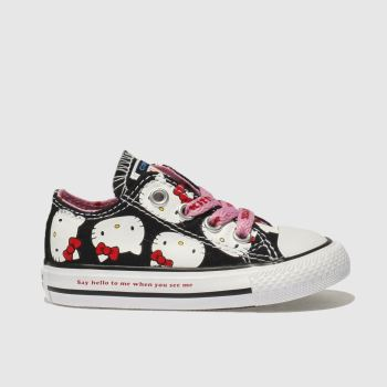 Converse Black All Star Hello Kitty Lo Girls Toddler
