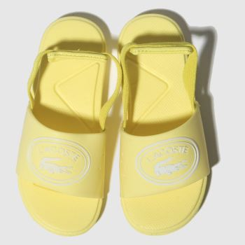 Lacoste Yellow L.30 Slide Girls Toddler