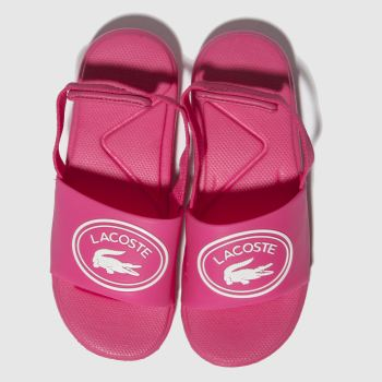 Lacoste Pink L.30 SLIDE Girls Toddler