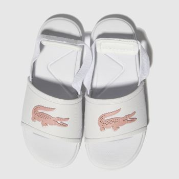 Lacoste White & Pink L.30 Slide Girls Toddler