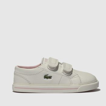 Lacoste White & Pink Riberac Girls Toddler