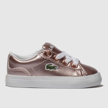 Lacoste Pink Lerond Girls Toddler