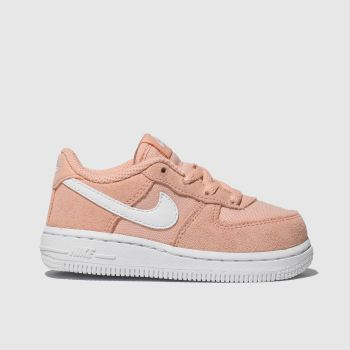 Nike Peach Air Force 1 Girls Toddler