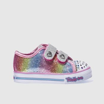 SKECHERS PINK & SILVER STEP UP SPARKLE KICKS GIRLS TODDLER TRAINERS