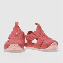 8282d6132 Girls pink nike sunray protect 2 trainers