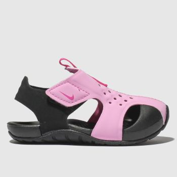 Nike Black & pink Sunray Protect 2 Girls Toddler