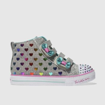 Skechers Multi TWINKLE TOES SHUFFLES LITE Girls Toddler