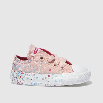 Converse Pink All Star Lo Girls Toddler