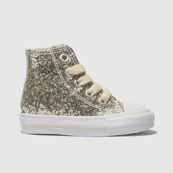 Converse Gold All Star Hi Glitter Girls Toddler
