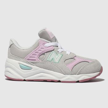 New Balance Light Grey X90 Girls Toddler