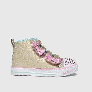 skechers gold shuffle lite trainers toddler
