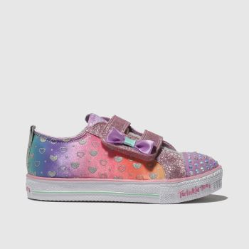 Skechers Purple Shuffle Lite Girls Toddler