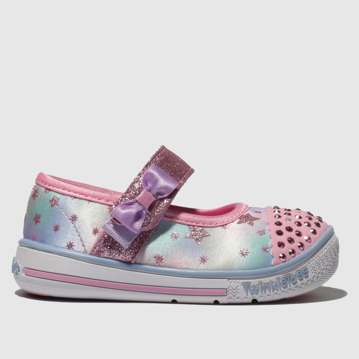 Skechers Pink Twinkle Play Trainers Toddler