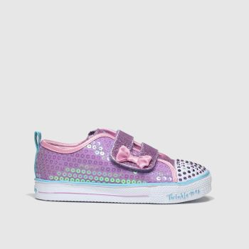 Skechers Purple Shuffle Lite Mini Mermaid Girls Toddler