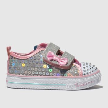 Skechers Silver Shuffle Lite Mini Mermaid Girls Toddler