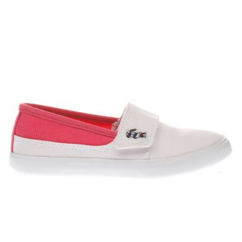 LACOSTE WHITE & PINK MARICE GIRLS TODDLER TRAINERS