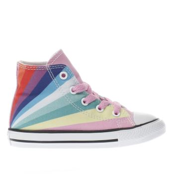30e2e566387a CONVERSE PINK ALL STAR OX RAINBOW TRAINERS TODDLER