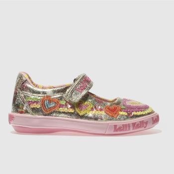 LELLI KELLY GOLD & PINK MILA DOLLY TRAINERS TODDLER