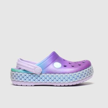 Crocs Purple Crocband Mermaid Girls Toddler#