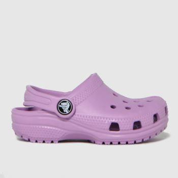 crocs Lilac Classic Clog Girls Toddler