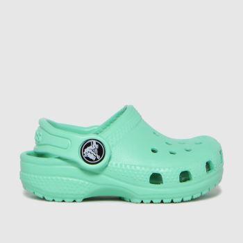 crocs Green Classic Clog Girls Toddler