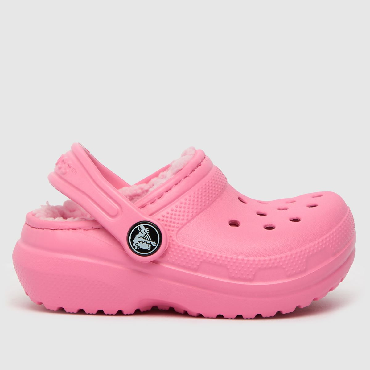 Crocs Pale Pink Classic Lined Clog Sandals Toddler