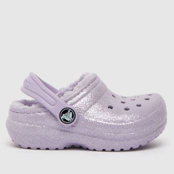 crocs Lilac Classic Lined Glitter Girls Toddler