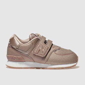 New Balance Pink 574 Girls Toddler
