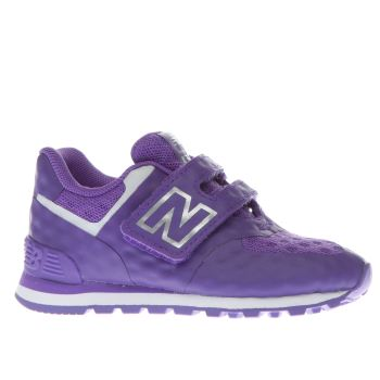 NEW BALANCE PURPLE 574 BREATHE GIRLS TODDLER TRAINERS