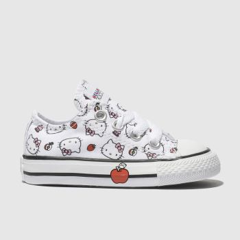 Converse White & Red All Star Hello Kitty Lo Girls Toddler